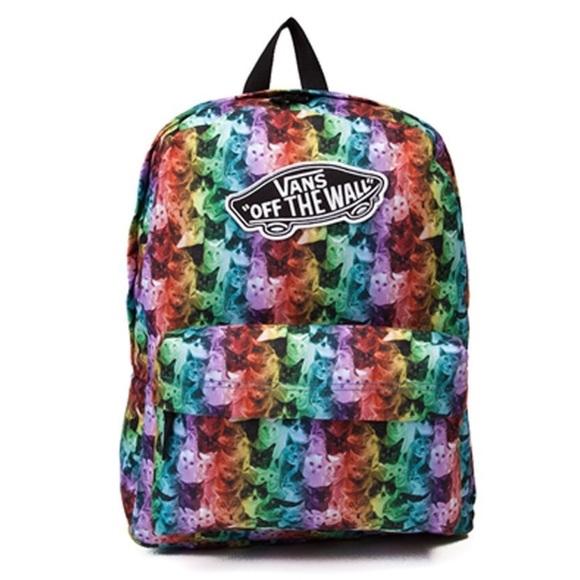 Vans x ASPCA rainbow realm cat print backpack. M 5a8d96b3fcdc316b3f7d13ab 308870911235c